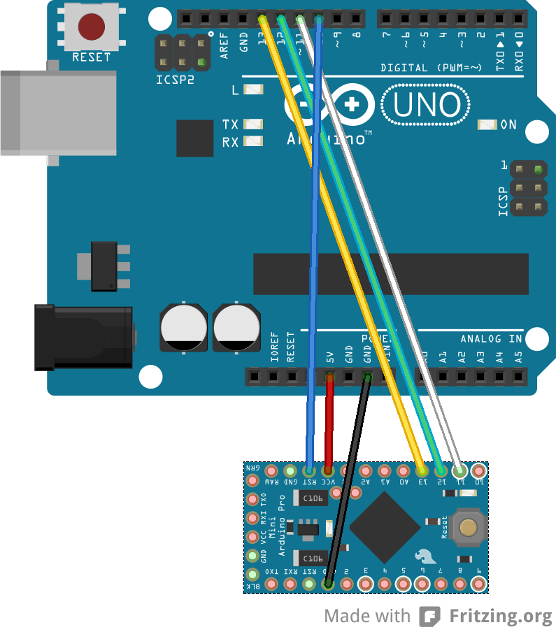 Arduino nano on atmega 328p