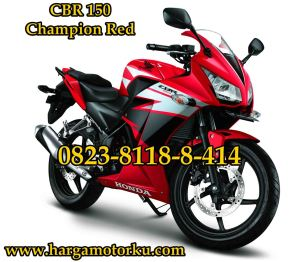 CBR 150 champion red super kecil 9