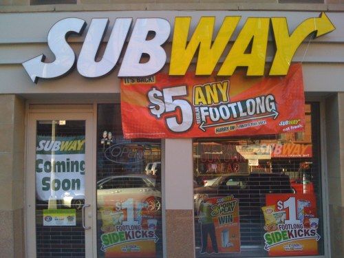 Subway Showing Signs of life on 8th and 116th