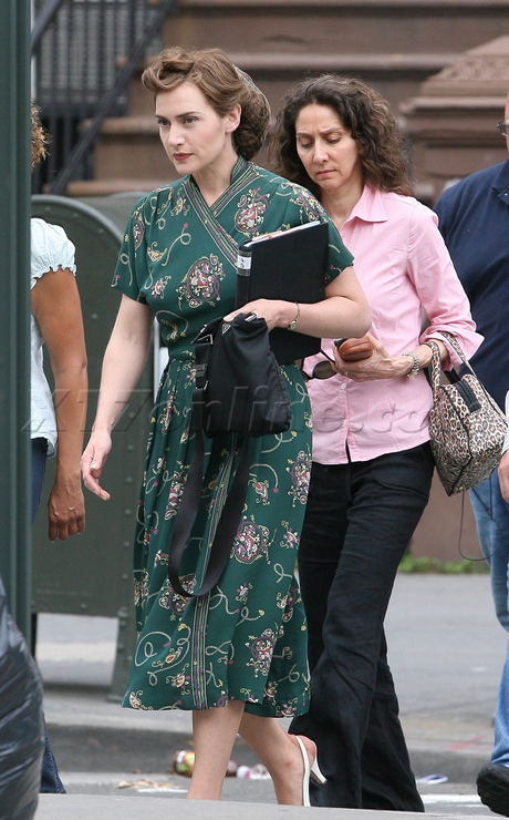 kate w Kate Winslet and Evan Rachel Wood on set in Harlem for HBO&#039;s Mildred Pierce