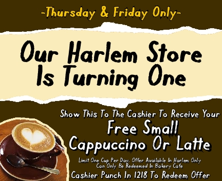 Free coffee in honor of Best Yet Market in Harlem turning one
