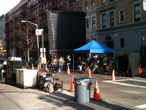 Rookies with LeeLee Sobieski filiming in Harlem