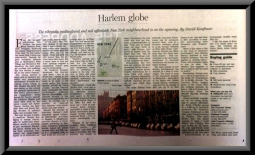 Harlem featured in UKs Financial Times