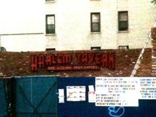 Harlem Tavern signage up and very visible