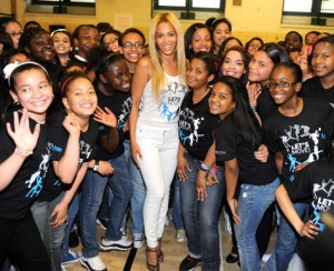  PS 161 in Harlem dances with Houston gal Beyonce