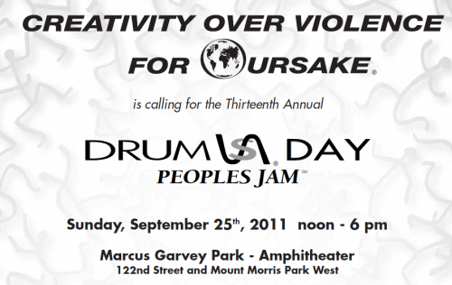 drums day Peace &amp; Drums in Marcus Garvey Park
