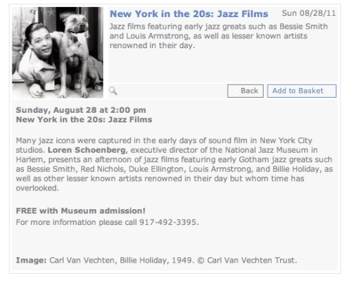 New York in the 20s   Jazz Films at the Museum of the City of New York