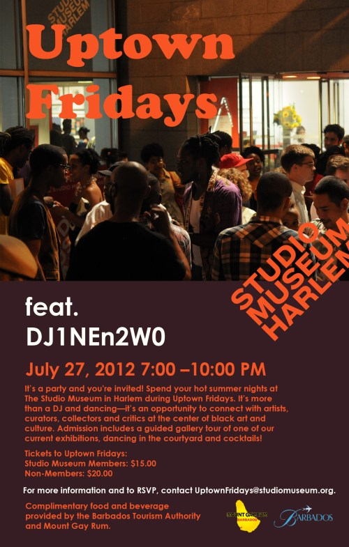 uptownfridaysjul271 Uptown Fridays At The Studio Museum In Harlem