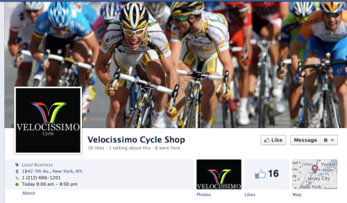 For Biking Enthusiasts...Velocissimo Cycle Opening Soon