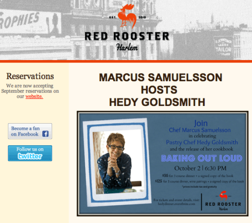 Marcus Samuelsson Hosts Hedy Goldsmith At Red Rooster