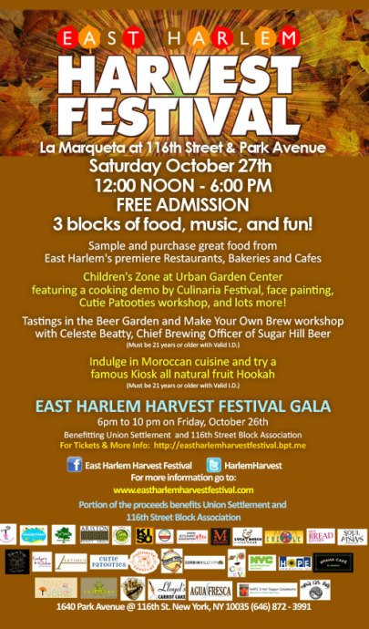 East Harlem Harvest Festival Gala Today!