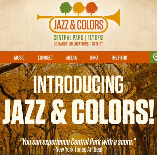 JAZZ and COLORS   Today, Happening Now in CENTRAL PARK