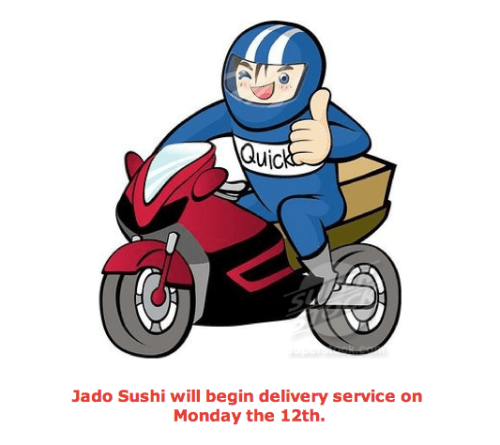 Jado Sushi   Quality Sushi Dinner With Wine At Home!  Delivery Starts 11/12/12
