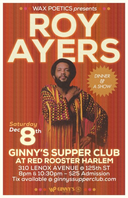 ROY AYERS Is Coming To GINNYS In Harlem