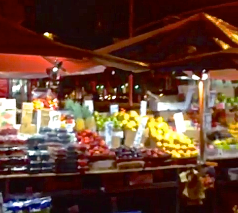 Mega Fruit Stand on Frederick Douglass Boulevard   Harlem