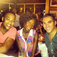 Don Lemon CNN news anchor Dining in Harlem at Cédric Bistro