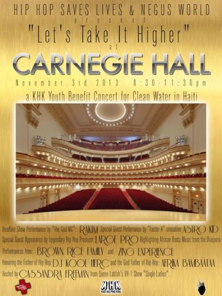 LETS TAKE IT HIGHER at CARNEGIE HALL   Kids Helping Kids for Clean Water in Haiti