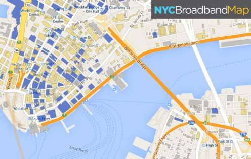 NYC Broadband Map via HarlemCondoLife.com