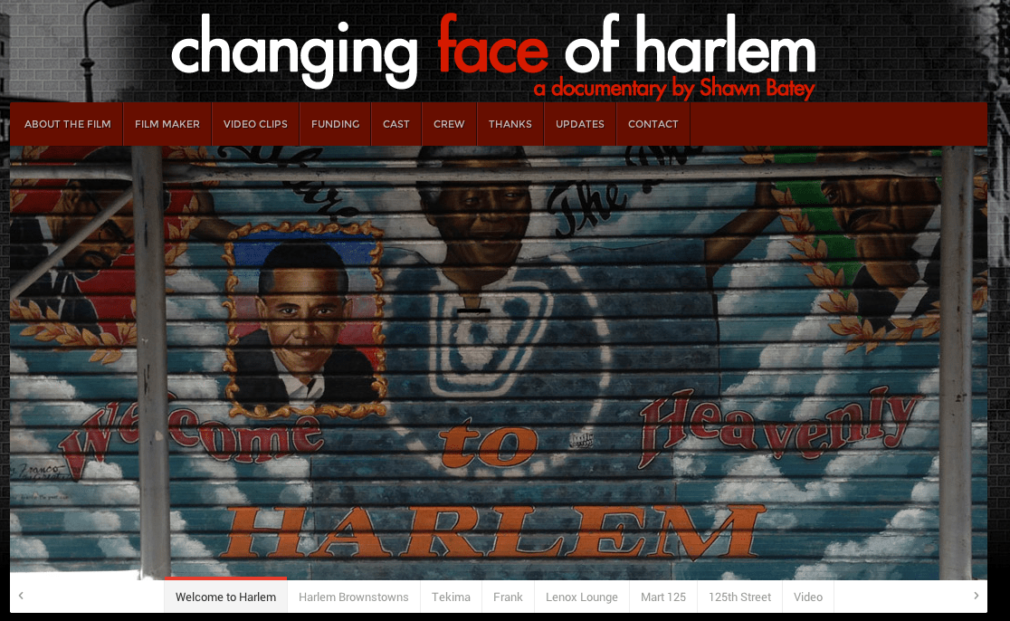 Film screenings of the Changing Face of Harlem