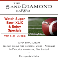 The 5 And Diamond on Harlem Restaurant Row - Super Bowl Sunday