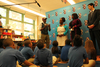 Marcus Samuelsson Gives Harlem Students Healthy Eating Lesson