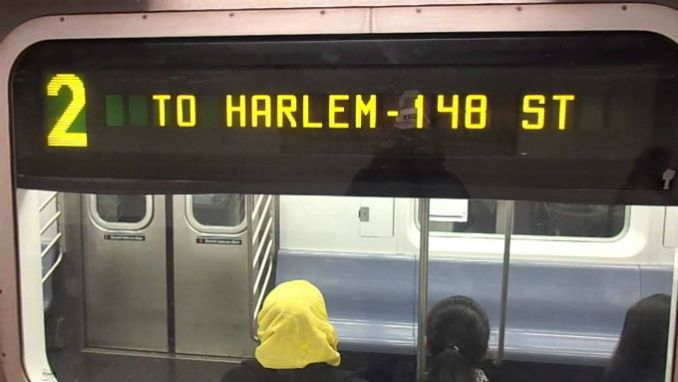 two train in harlem