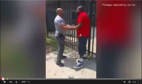 red shirt man stopped in harlem