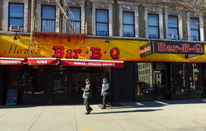 What 39 s new harlem bar b q and tuscan kitchen harlem for Food bar harlem