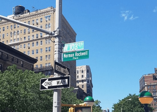 Norman Rockwell place in harlem