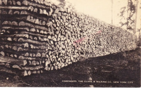 cut wood at 128th street in east harlem 1907