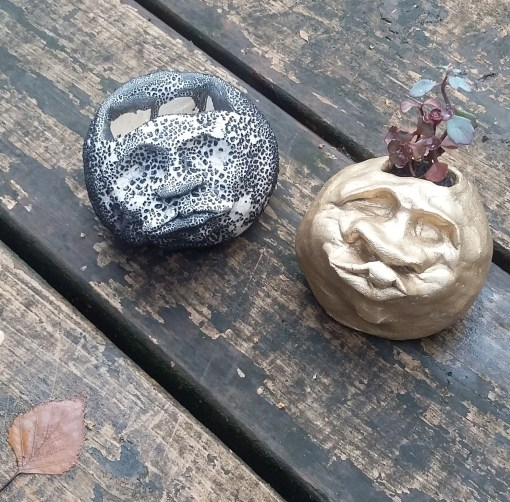 Image: ceramic succulent planters with personality.