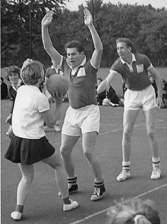 Netball with the County - perhaps Colin Peters & Geoff Wheal
