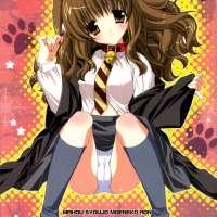 MAHOU SYOUJO MOENEKO RON: Neko Hermione looks even more cute when sucking some big hard dick!