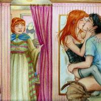 Harry Potter and Ginny Weasley love to fuck in unusual places... aspecially if they can be seen by someone!