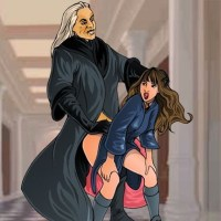 Lucius Malfoy surprises Hermione In the halls of Hogwarts itself!