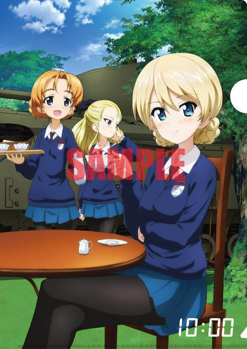Girls Und Panzer Movie Clear Files Anime Illustration 005