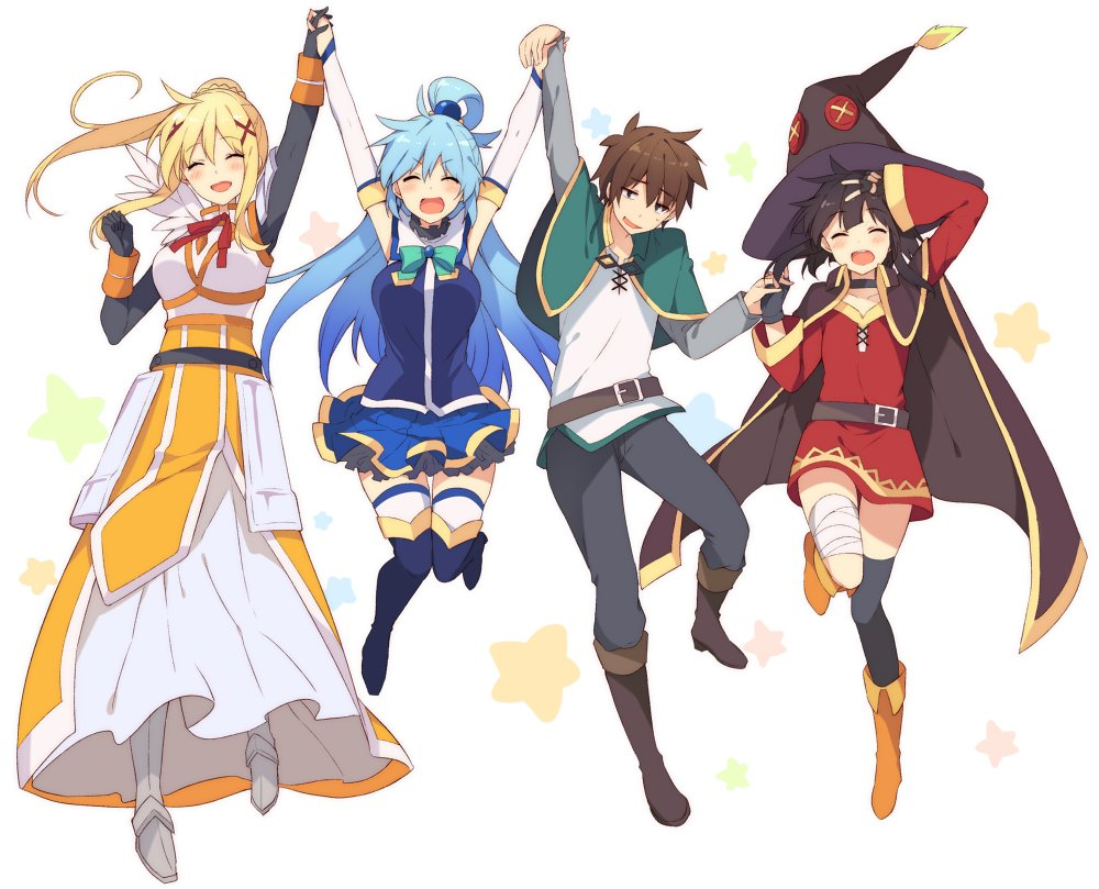 KonoSuba TV Anime Receives Second Season