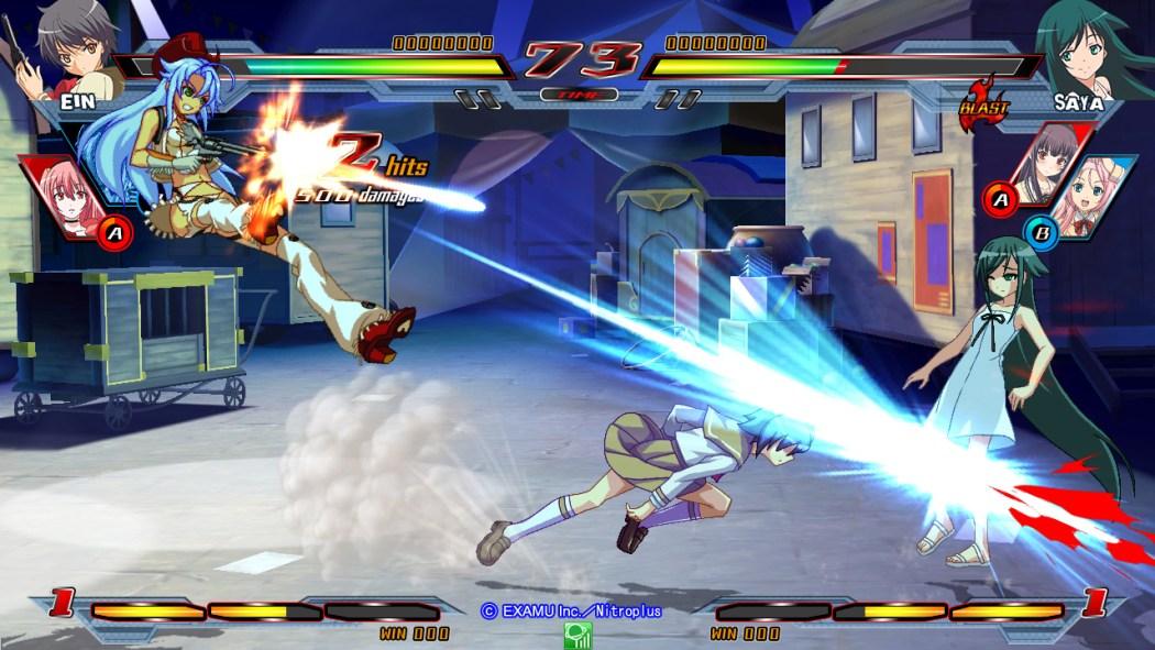 Nitroplus Blasters Heroines Infinite Duel Gameplay haruhichan.com Visual Novel Fighter game screenshot 8
