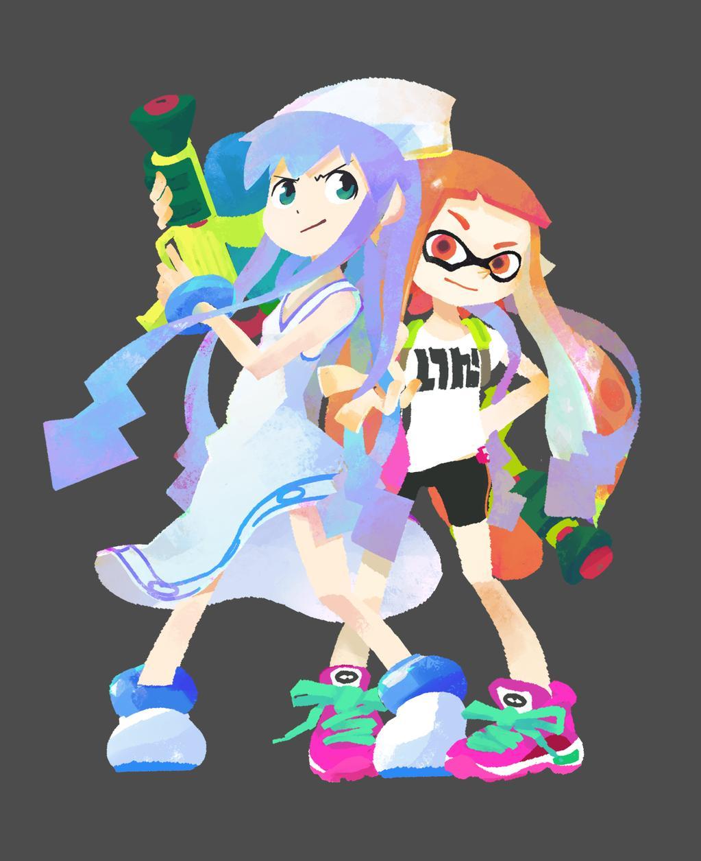 Squid Girl X Splatoon Crossover Art Masahiro Anbe Nintendo 2
