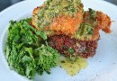 Panko Crusted Flounder with Lime Basil Butter Sauce