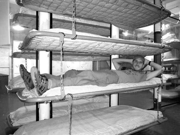 Enlisted men slept wherever they could find an unoccupied bunk.