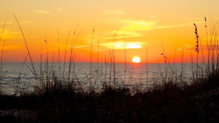 Sunset at Madeira Beach, Florida.