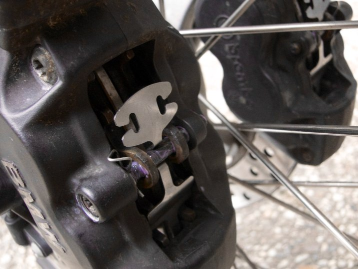 Clean front brakes.