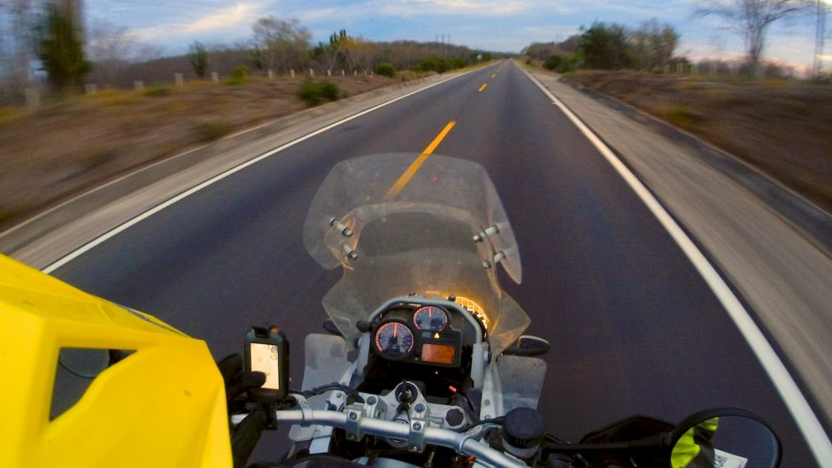Riding into twilight. How many more miles to Mazatlán?