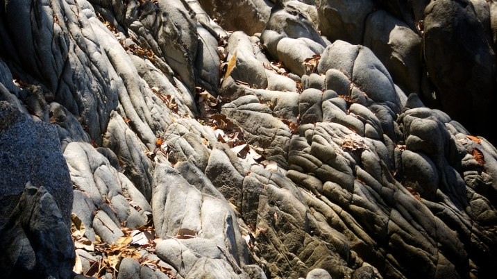 Rock formations along the walking trail.