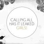 Girls! We need your help!
