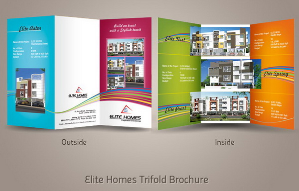 30  Real Estate Brochure Designs for Inspiration   Hative trifold real estate brochure