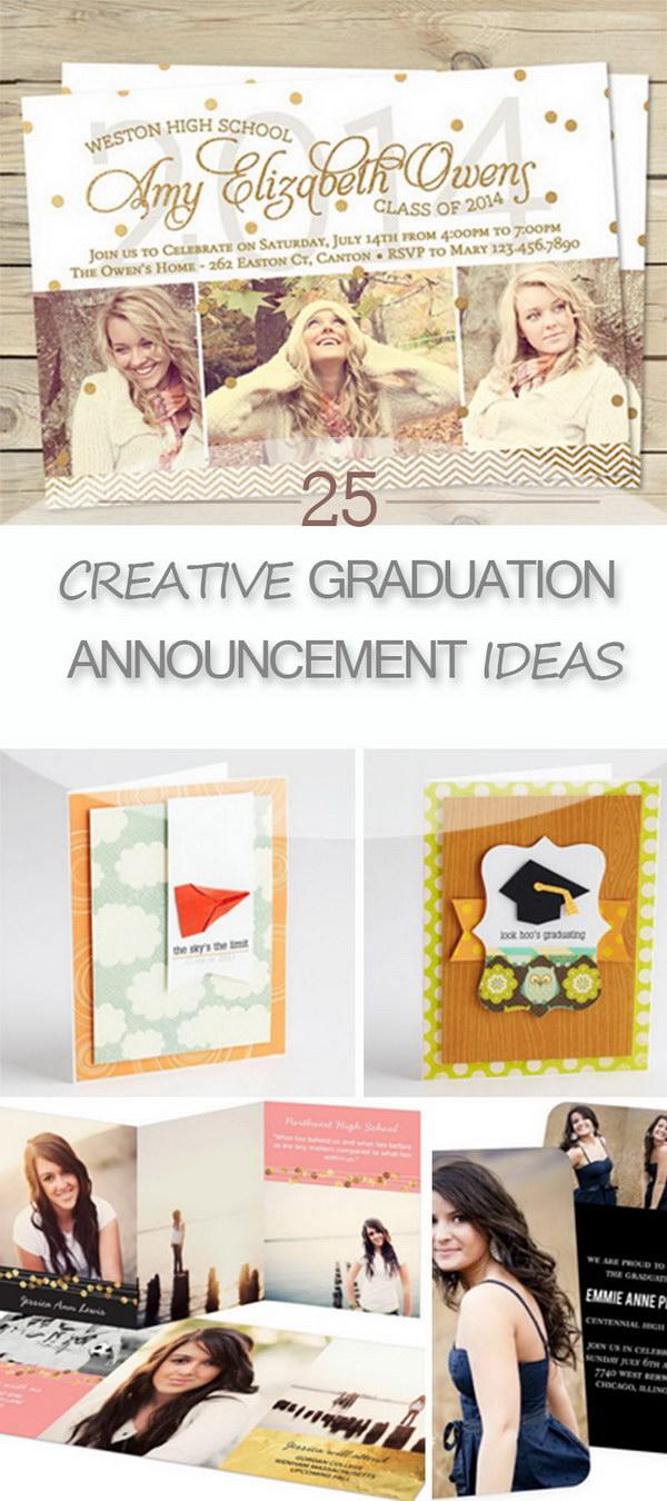 Large Of Graduation Announcement Ideas