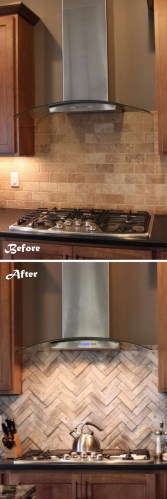 genius kitchen makeover ideas that would save you money kitchen makeover ideas Change the Look and Feel of Your Kitchen by Changing the Backsplash 33 genius kitchen makeover ideas