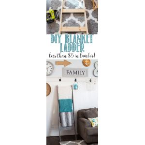 Flossy Diy Blanket Ladder Under Cheap Diy Home Decorations Hative Diy Projects Decorating Home Diy Bathroom Decorating Projects